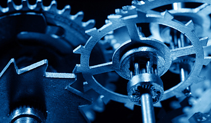 macro mechanical gear background close up