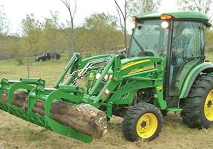 Tractor with grapple
